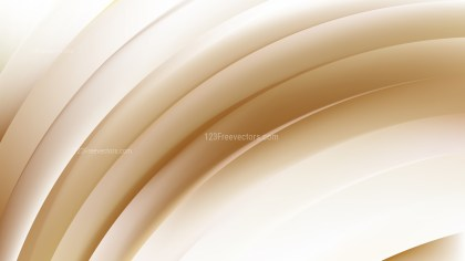 Brown and White Curved Stripes Vector Image
