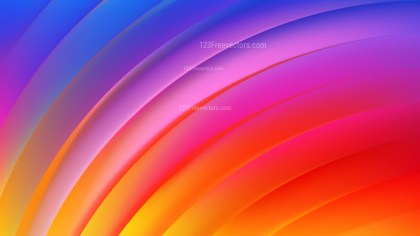 Abstract Colorful Curved Stripes