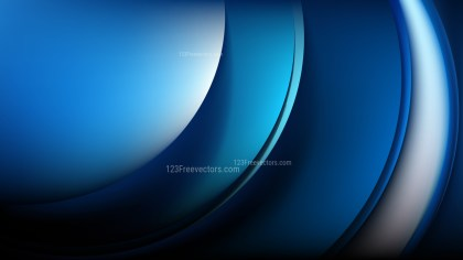 Glowing Abstract Cool Blue Wave Background Graphic
