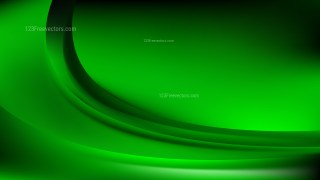 Glowing Abstract Cool Green Wave Background Illustrator