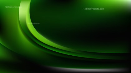 Cool Green Abstract Curve Background Illustration
