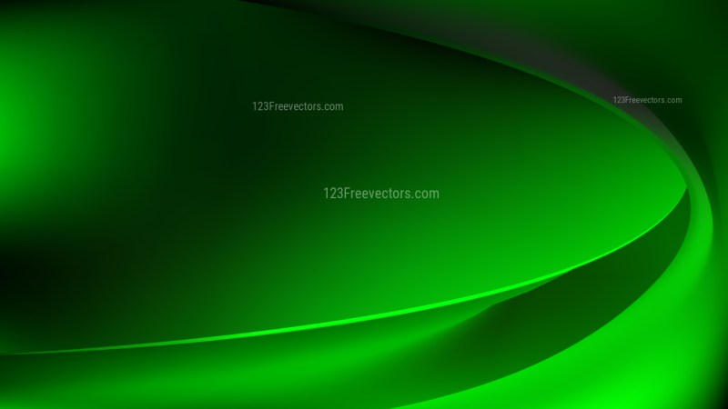 Cool Green Abstract Wave Background Template Design
