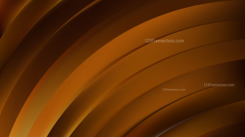 Abstract Dark Brown Shiny Curved Stripes Background Image