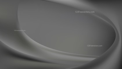 Dark Grey Abstract Wave Background Illustration
