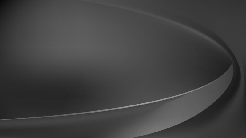 Glowing Dark Grey Wave Background