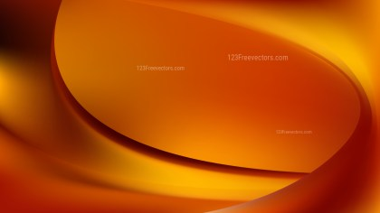 Abstract Dark Orange Wave Background Template Illustrator