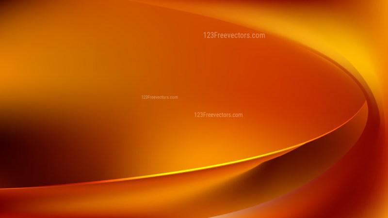Dark Orange Wave Background Illustration