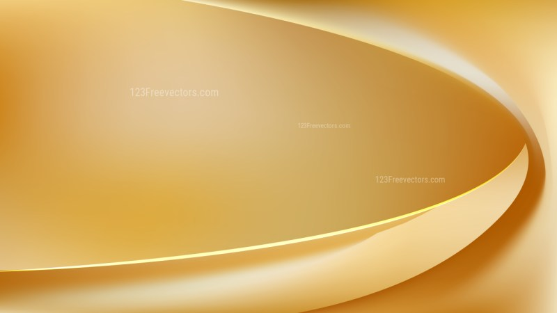 Gold Abstract Curve Background Vector Illustration