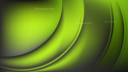 Abstract Green and Black Shiny Wave Background