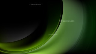 Abstract Green and Black Wave Background Image