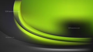Glowing Green and Black Wave Background
