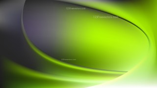 Abstract Green and Black Shiny Wave Background Vector Graphic