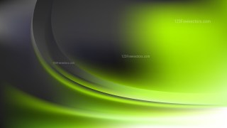 Glowing Abstract Green and Black Wave Background Design