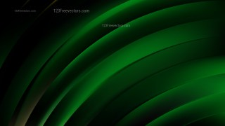 Abstract Green and Black Shiny Curved Stripes Background