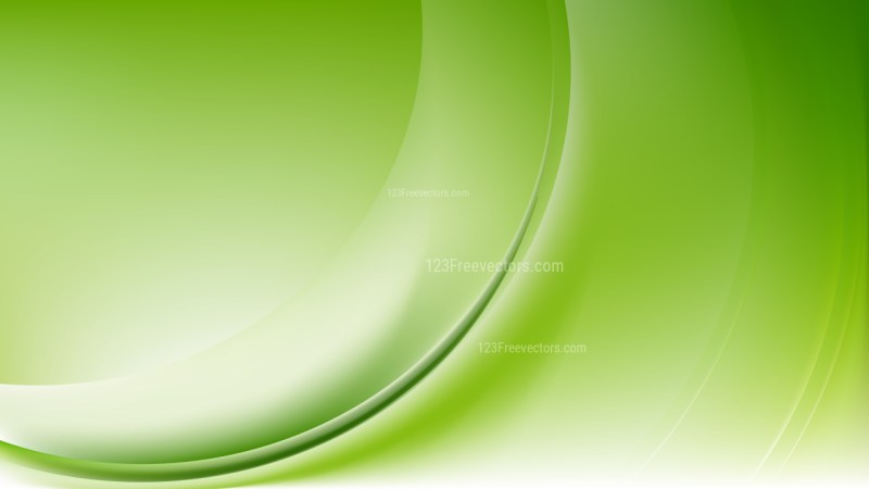 Abstract Green and White Shiny Wave Background