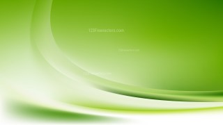 Glowing Abstract Green and White Wave Background Vector Graphic
