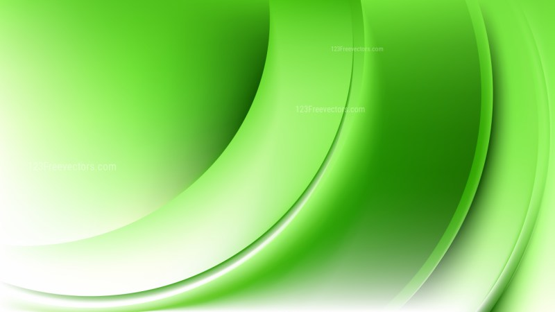 Abstract Glowing Green and White Wave Background