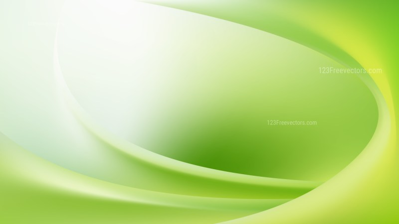 Green and White Abstract Curve Background Illustration