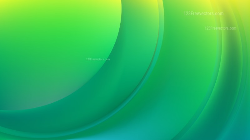 Abstract Green and Yellow Shiny Wave Background Design