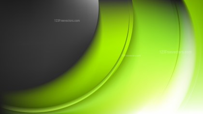 Glowing Green Black and White Wave Background Vector