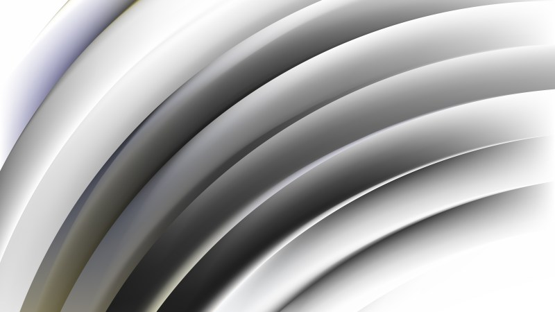 Abstract Grey and White Shiny Curved Stripes Background Image