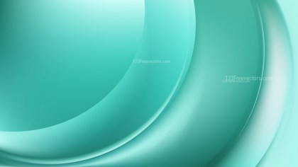 Abstract Glowing Mint Green Wave Background Graphic