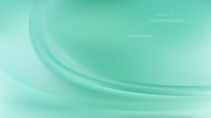 Glowing Abstract Mint Green Wave Background