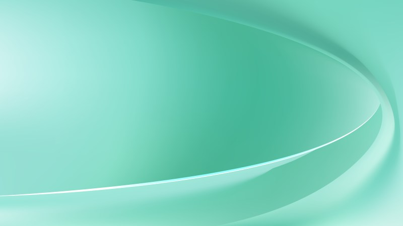 Abstract Mint Green Wave Background Vector Image