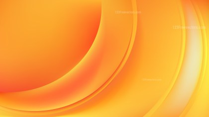 Glowing Orange Wave Background Vector