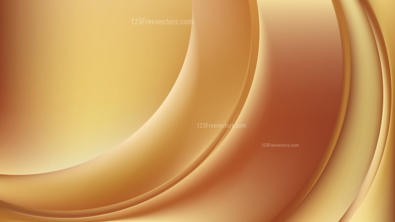 Abstract Orange Wave Background Template Design