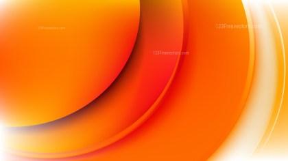 Abstract Orange Wave Background Illustration