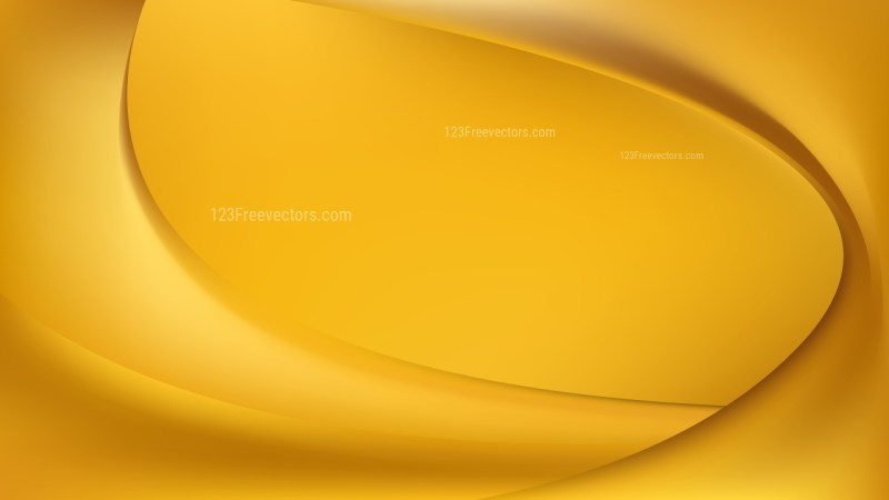 Abstract Orange Wave Background Template Vector Graphic