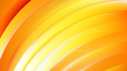 Abstract Orange Curved Stripes Vector Illustration