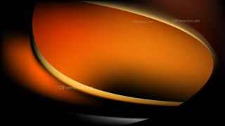 Abstract Orange and Black Shiny Wave Background