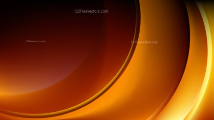 Orange and Black Abstract Wave Background