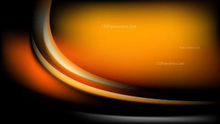 Orange and Black Abstract Curve Background