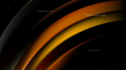 Abstract Orange and Black Curved Stripes Vector Illustration
