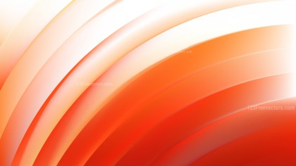 Abstract Orange and White Shiny Curved Stripes Background Design Template