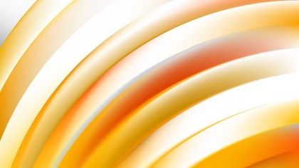 Orange and White Curved Stripes Vector Image