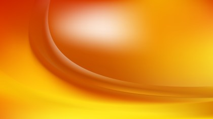 Abstract Glowing Orange and Yellow Wave Background Vector