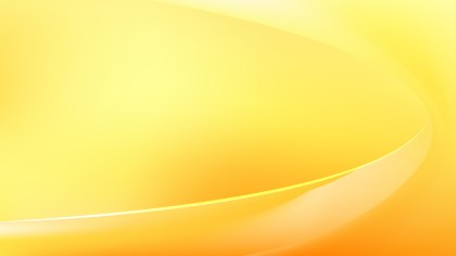 Abstract Glowing Orange and Yellow Wave Background Vector Graphic