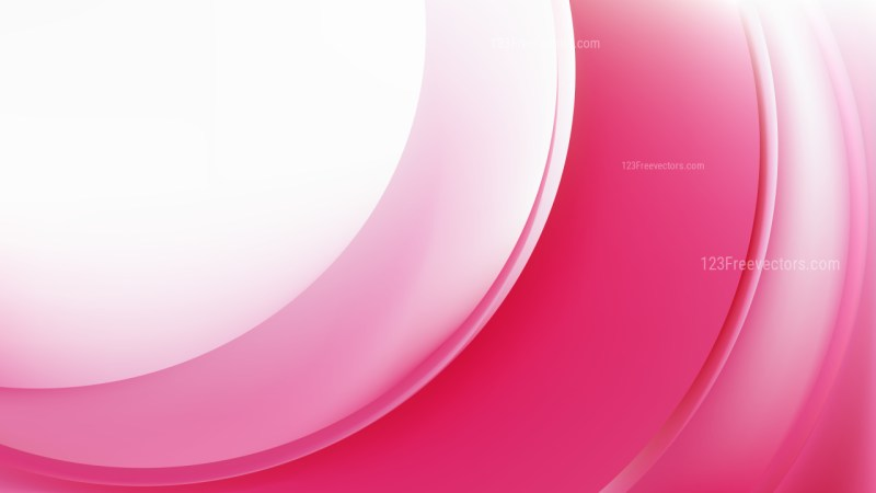 Glowing Pink and White Wave Background