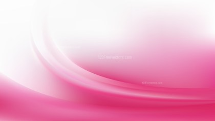 Pink and White Abstract Wavy Background