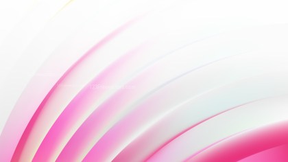 Abstract Pink and White Shiny Curved Stripes Background