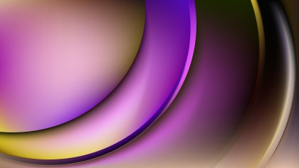 Purple and Gold Abstract Wavy Background