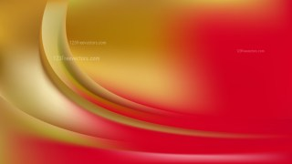 Glowing Abstract Red and Gold Wave Background Vector