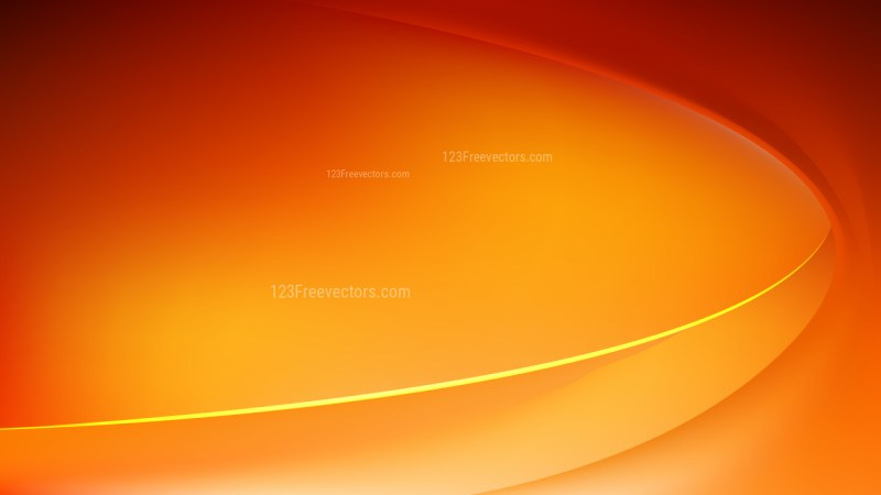 Glowing Red and Orange Wave Background