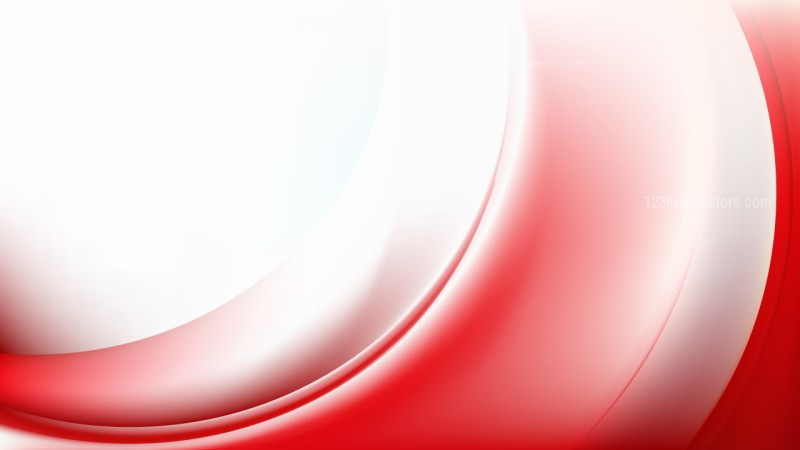 Red and White Abstract Curve Background