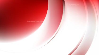 Red and White Abstract Wave Background Vector Art