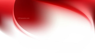 Red and White Abstract Wave Background Template